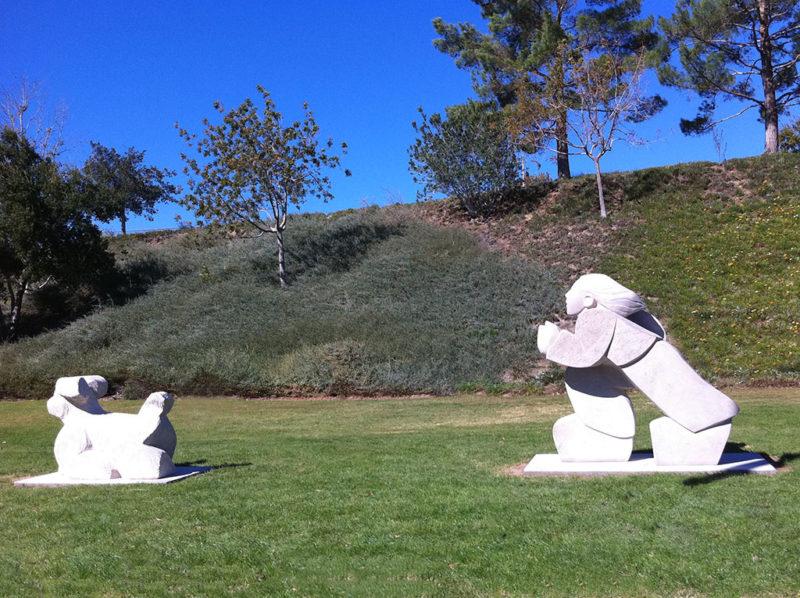 Friends, stone carvings in Santa Clarita, CA.