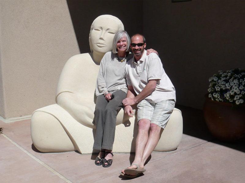 Madeline Wiener with her son, Adam.