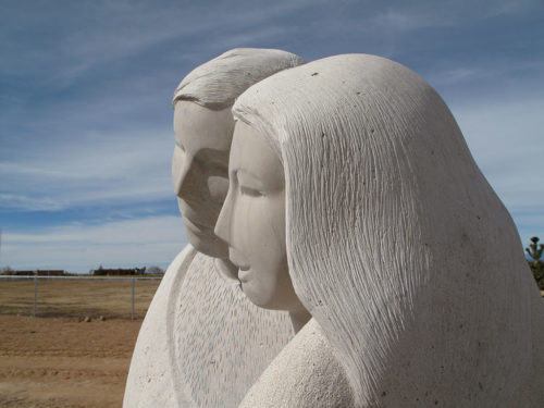 """Profile of """"The Tall Couple"""" at Ragle Park by Madeline Wiener"""