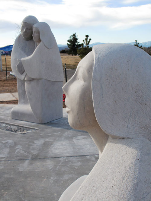 The Matriarch looks toward the children, the future of Santa Fe.